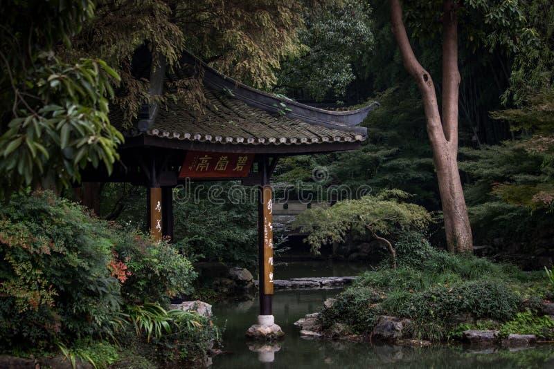 Pavilhão chinês no jardim botânico fotos de stock