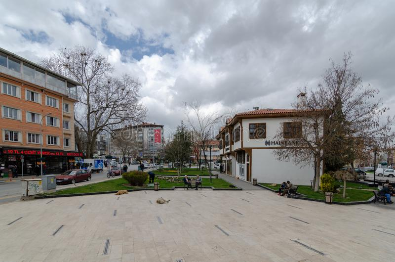 Pavilhão cor-de-rosa histórico em Kutahya /Turkey foto de stock royalty free