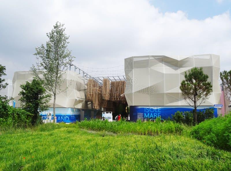Pavilhão 2015 da expo foto de stock