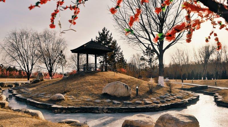 Pavilhão da flor da ameixa fotos de stock