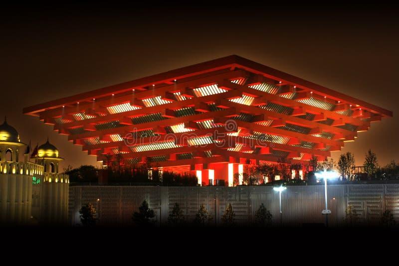 Pavilhão de China da expo do mundo de Shanghai foto de stock