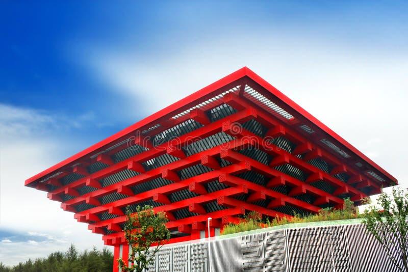 Pavilhão de China da expo do mundo de Shanghai imagem de stock royalty free
