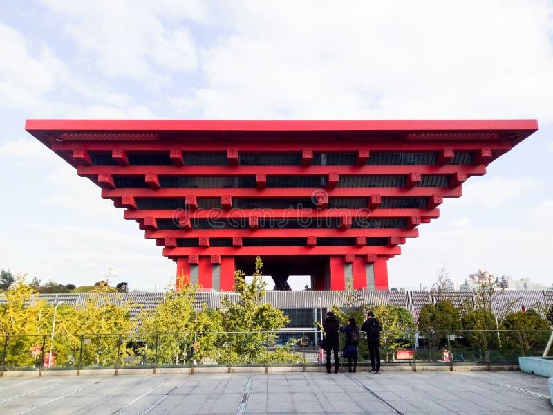 Pavilhão de China da expo do mundo de Shanghai fotos de stock royalty free