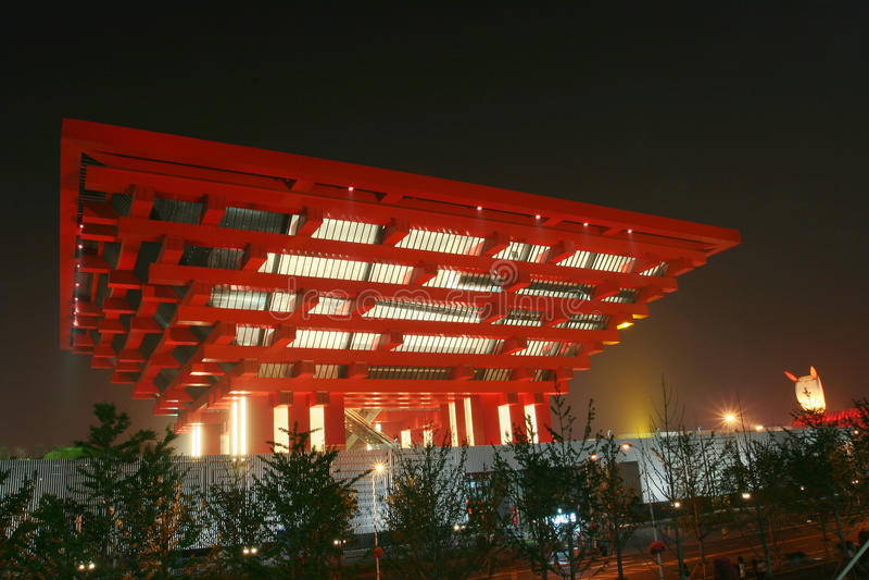 Pavilhão de China na expo do mundo de Shanghai imagem de stock royalty free