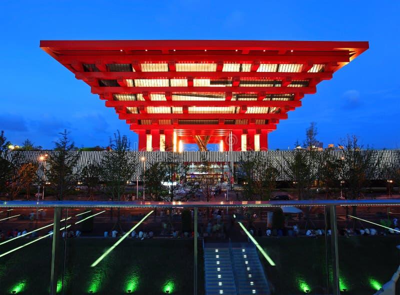 Pavilhão de China na expo Shanghai 2010 foto de stock royalty free