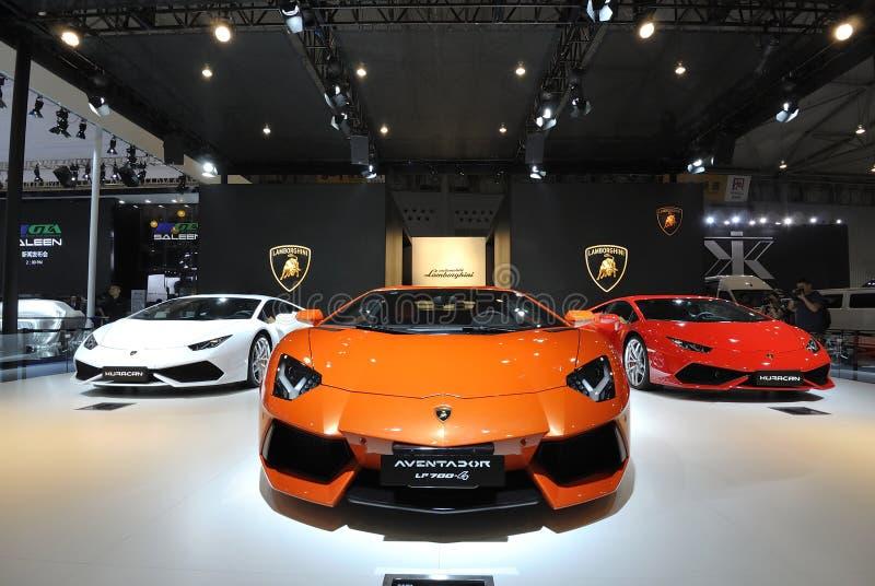 Pavilhão de Lamborghini fotografia de stock royalty free