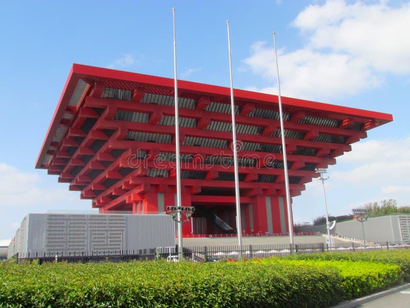 Pavilhão 2010 de Shanghai China da expo fotos de stock