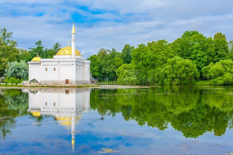 Pavilhão do banho turco em Tsarskoe Selo imagem de stock