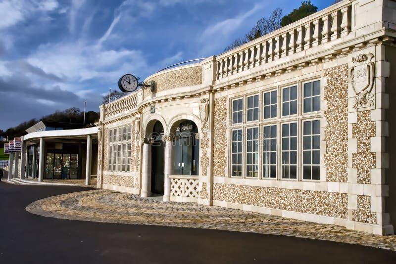 Pavilhão do jubileu em Lyme Regis imagens de stock
