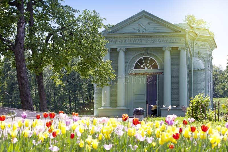 Pavilhão do Vênus no parque, 1793 anos Gatchina Petersburgo Rússia fotografia de stock