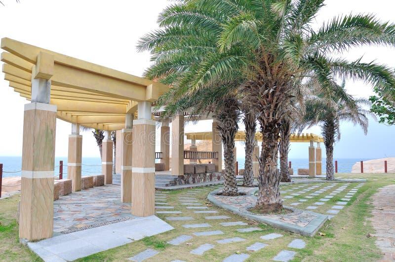 Pavilhão na praia imagens de stock royalty free