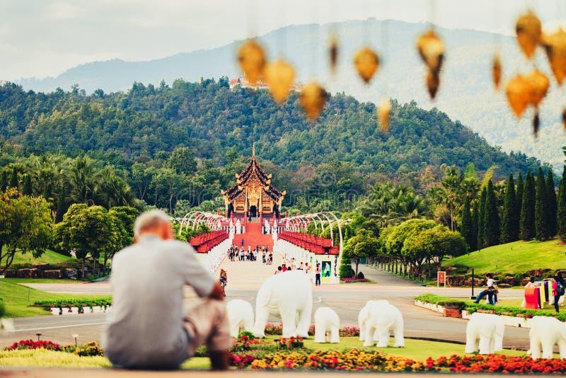Pavilhão real Ho Kham Luang - um da atração turística e dos marcos os mais populares em Tailândia fotos de stock royalty free