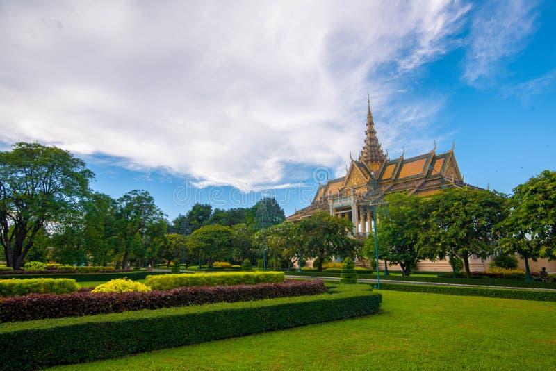 Pavilhão Royal Palace do luar, Camboja fotografia de stock