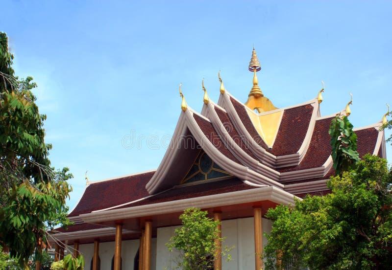 Pavilhão tailandês, parte superior do telhado fotos de stock