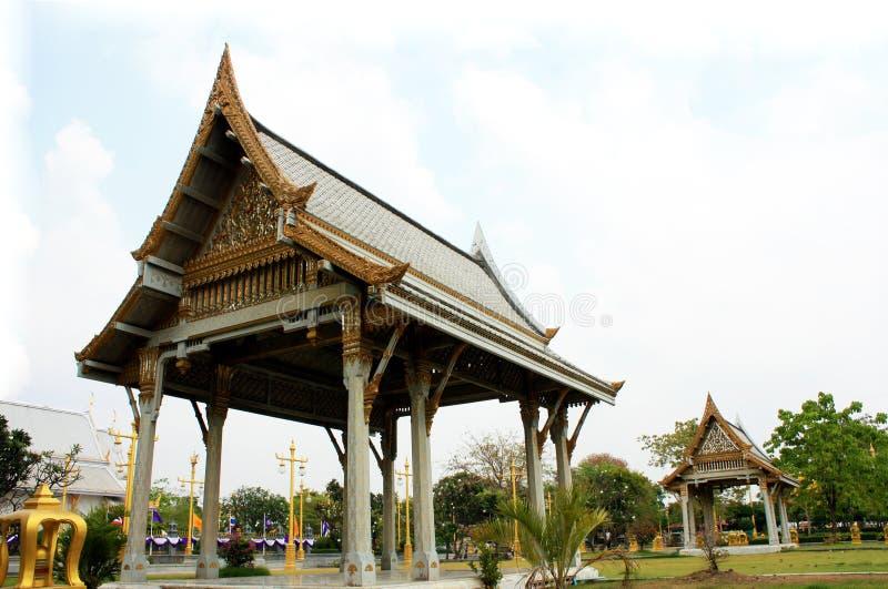 Pavilhão tailandês, Wat Sothornwararamworaviharn, Chachoengsao Tailândia imagem de stock royalty free