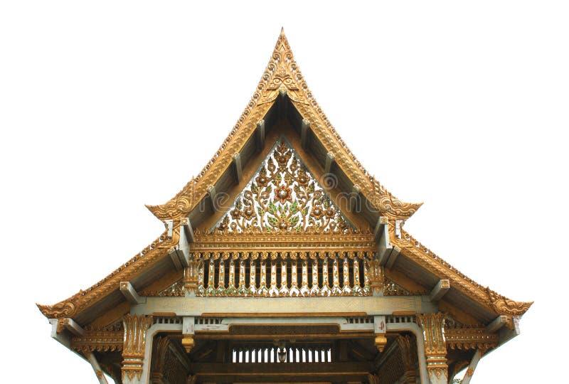 Pavilhão tailandês, Wat Sothornwararamworaviharn, Chachoengsao Tailândia foto de stock royalty free