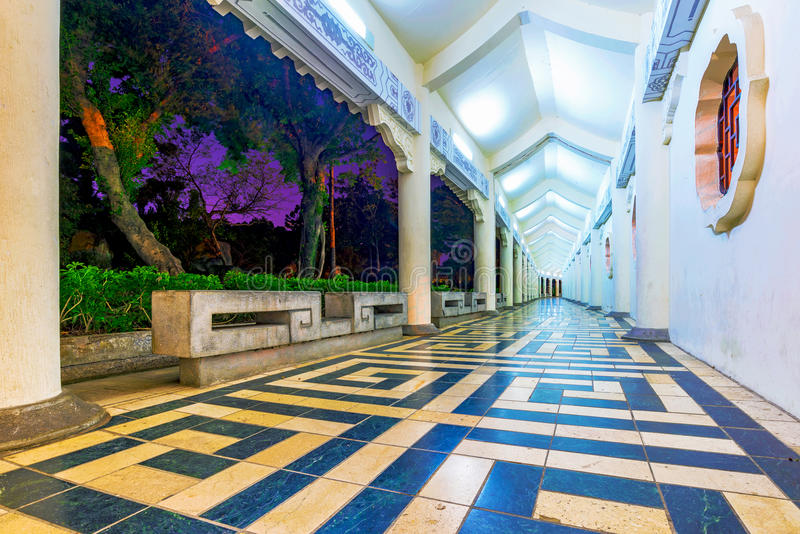 Pavilhão tradicional no parque memorável da paz fotografia de stock royalty free