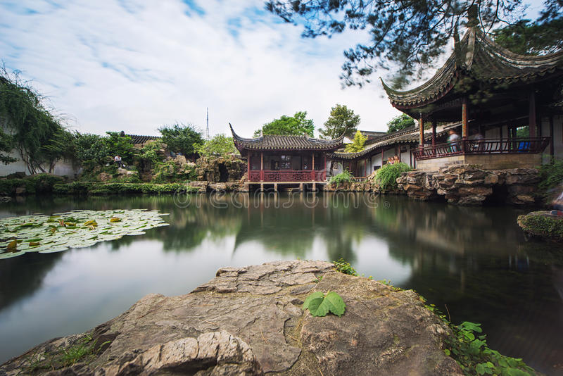 Pavilhões chineses fotografia de stock royalty free