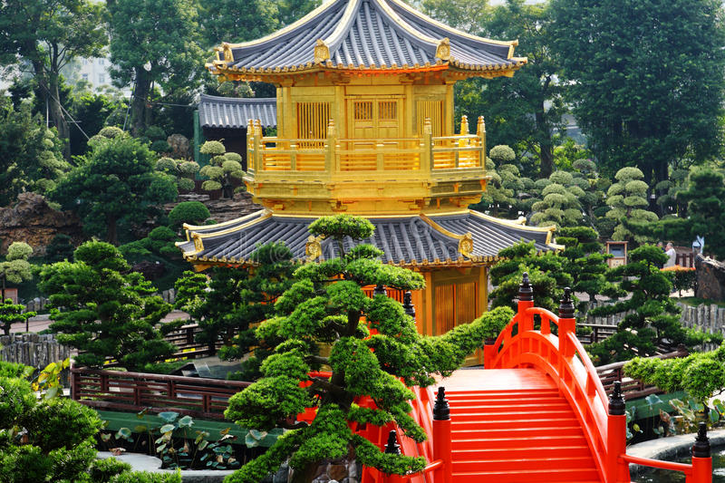 Download Pavilion stock photo. Image of east, green, hong, eastern - 18660438
