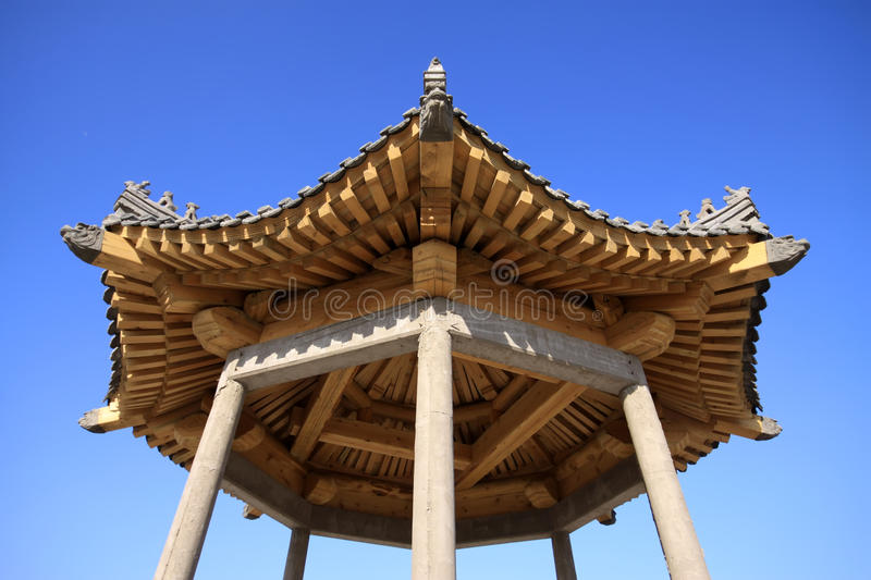 Pavilion. On a mountain, north china royalty free stock image