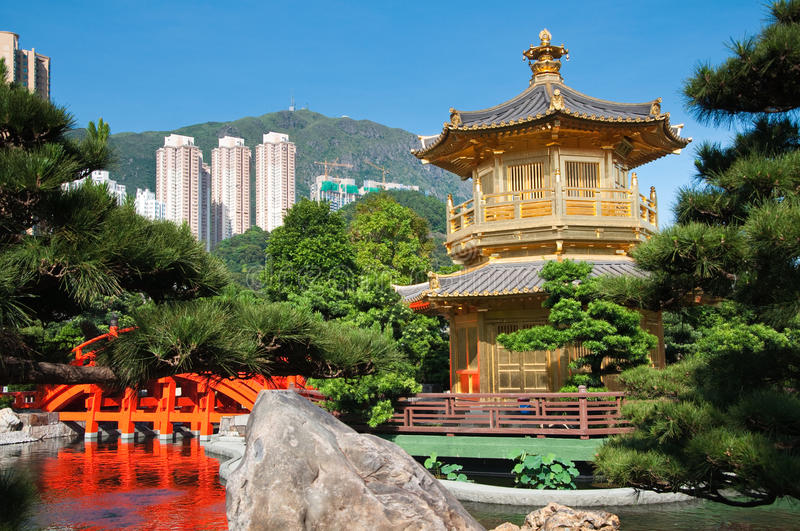 The Pavilion of Absolute Perfection. The Pavilion of Absolute Perfection in the Nan Lian Garden, Hong Kong stock photography