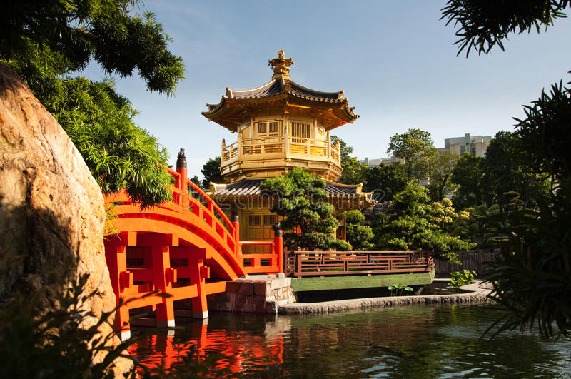 The Pavilion of Absolute Perfection. The Pavilion of Absolute Perfection in the Nan Lian Garden, Hong Kong stock photo