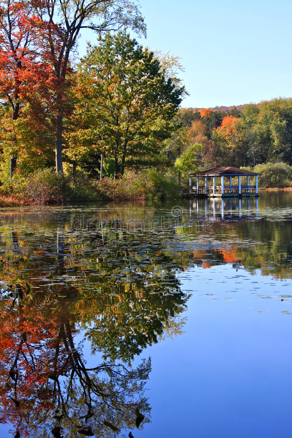 Download Pavilion With Autumn Reflections Stock Images - Image: 21508764