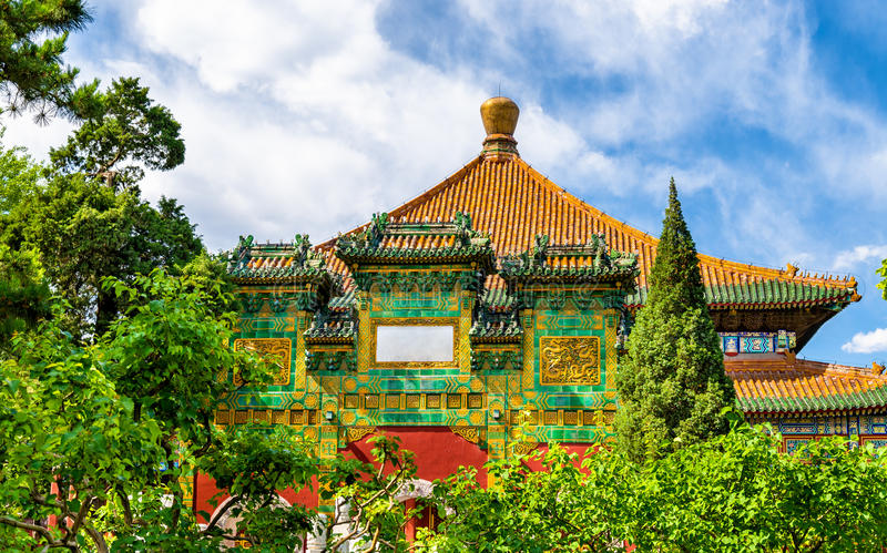 Pavilion in the Beihai park - Beijing, China. stock photo