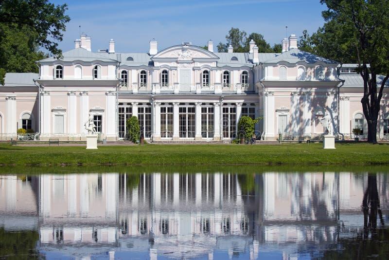 Pavilion Chinese palace. Oranienbaum (Lomonosov). Upper park.  stock images