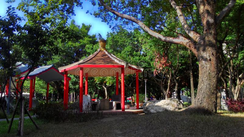 pavilion of Chinese-style stock images
