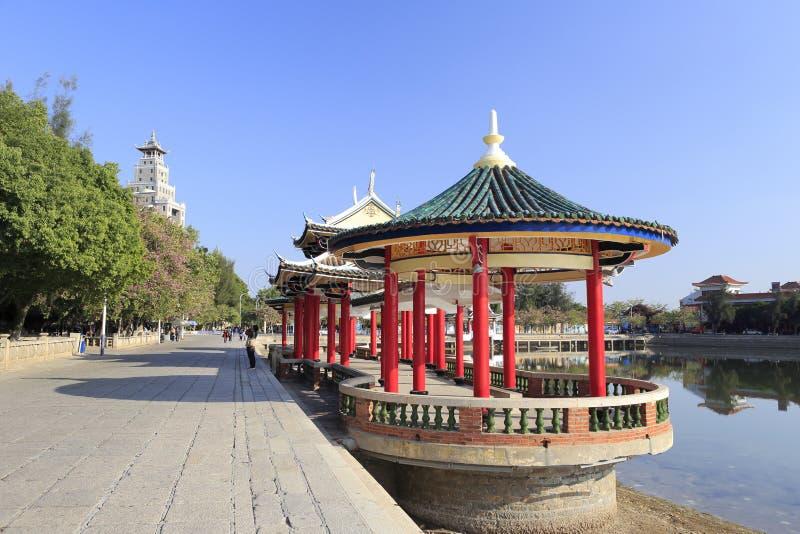 chinese boat with pavilion stock photo  image of pavilion