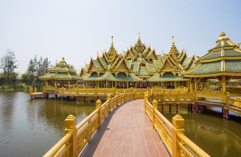 Pavilion of the enlightened in Ancient City Park, Muang Boran, Samut Prakan province, Thailand. Asia royalty free stock photos