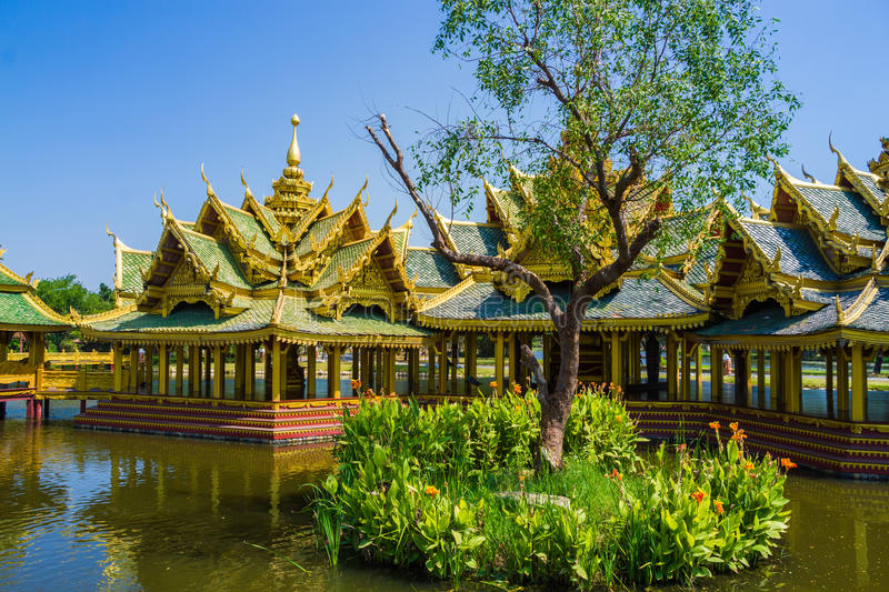 Pavilion of the Enlightened. Loated in thailand royalty free stock photography