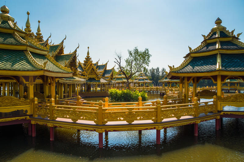 Pavilion of the Enlightened. Located in Thailand stock photo