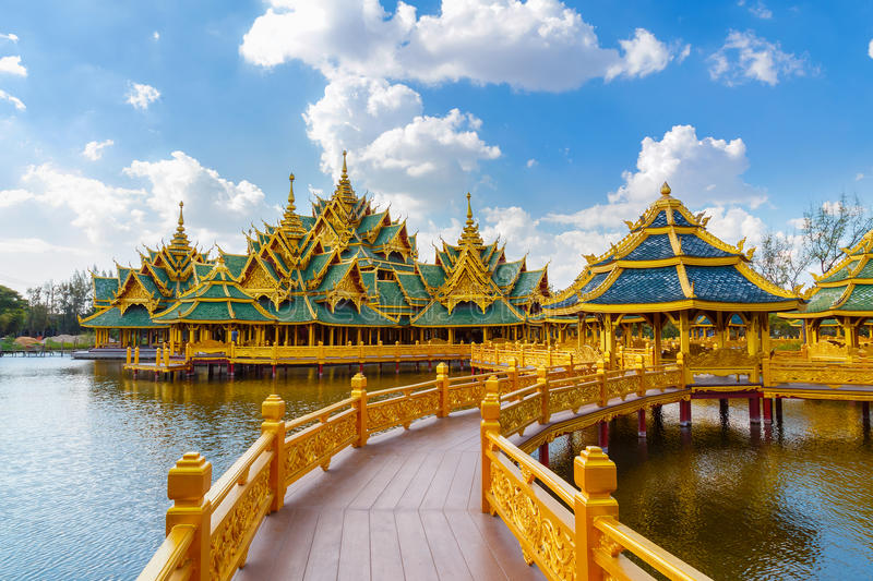 Pavilion of the Enlightened. In Thailand stock images
