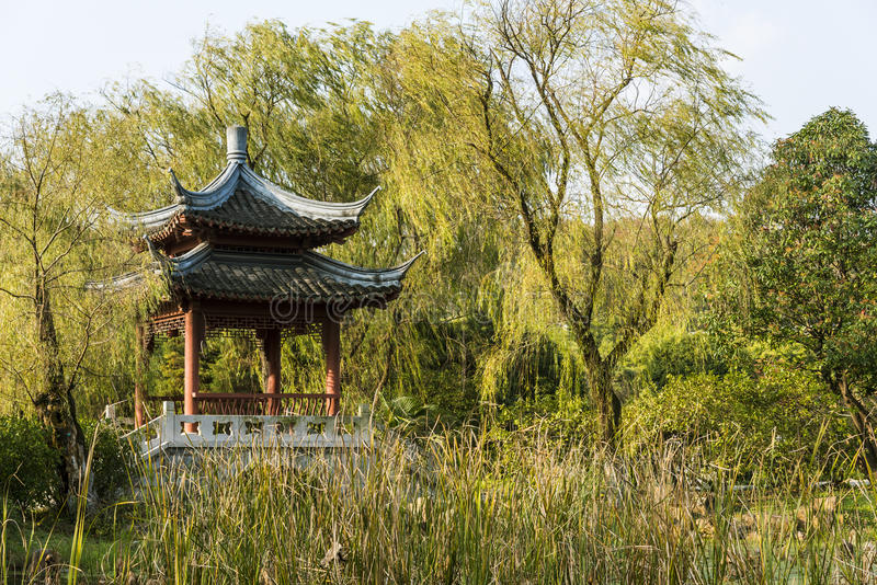 Pavilion and grass royalty free stock photography