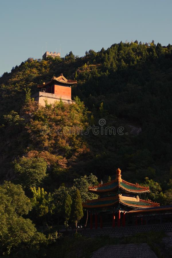 Pavilion of Great Wall, Beijing, China royalty free stock photos