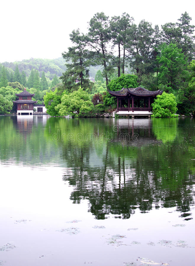 Download Pavilion In Hangzhou West Lake Stock Image - Image: 20017711
