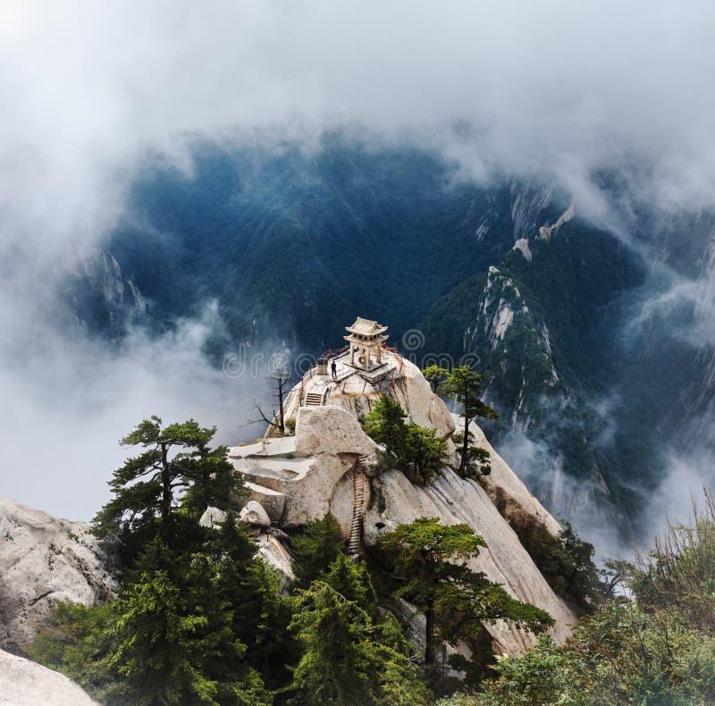 Pavilion Huashan Mountains zdjęcie royalty free