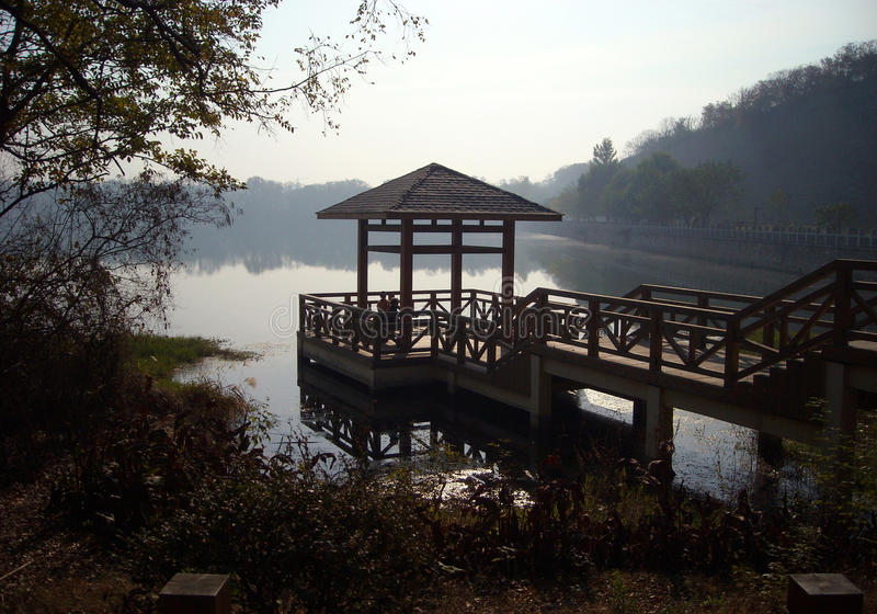 Download Pavilion in a lake stock photo. Image of lake, chinese - 11676882