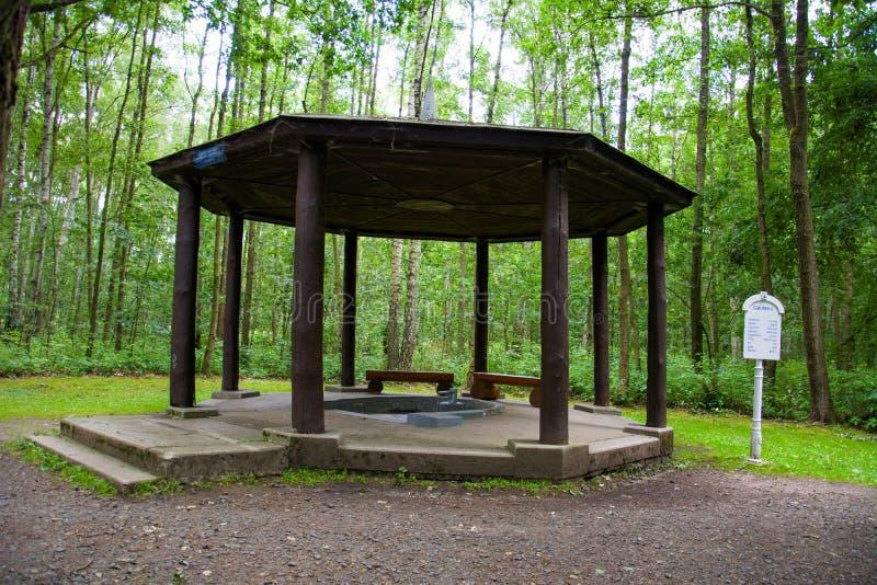 Pavilion of mineral water spring Glauber II - Františkovy Lázně royalty free stock photography
