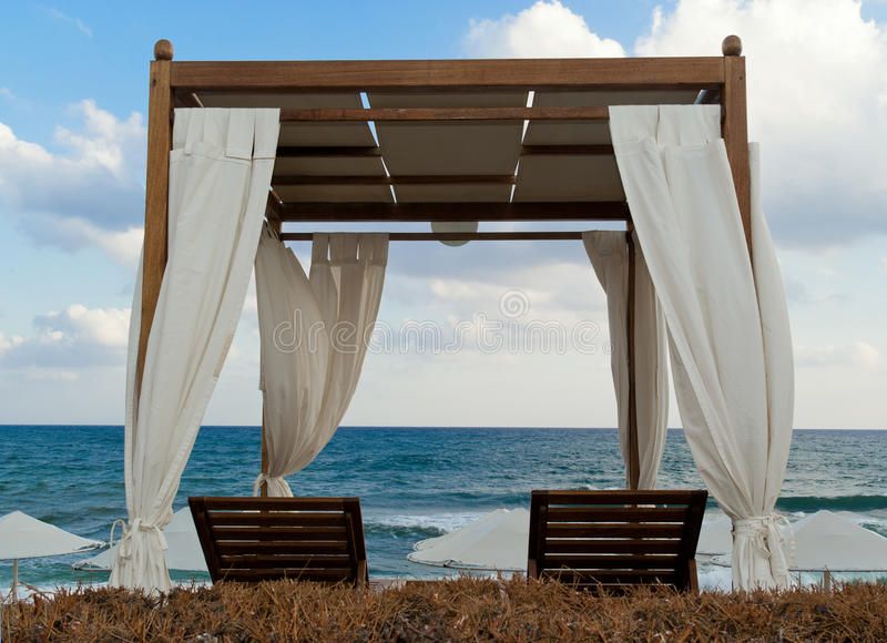 Pavilion For Relax On The Beach In Resort Royalty Free Stock Photo