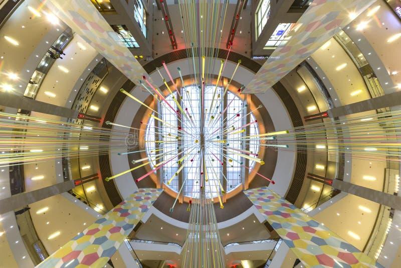 Pavilion Shopping Mall ceiling. Beautiful ceiling of the Pavilion Shopping Mall, Kuala Lumpur, Malaysia stock image