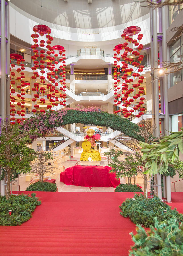 Pavilion shopping mall editorial stock photo image of for Interior decoration for new year