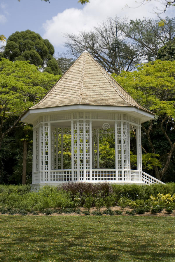 Pavilion At Singapore Botanic Gardens Stock Photo
