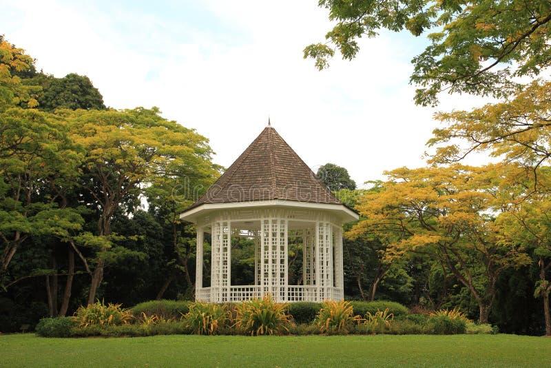 Pavilion at Singapore Botanic Gardens. Mark Pavilion at Singapore Botanic Gardens royalty free stock photos