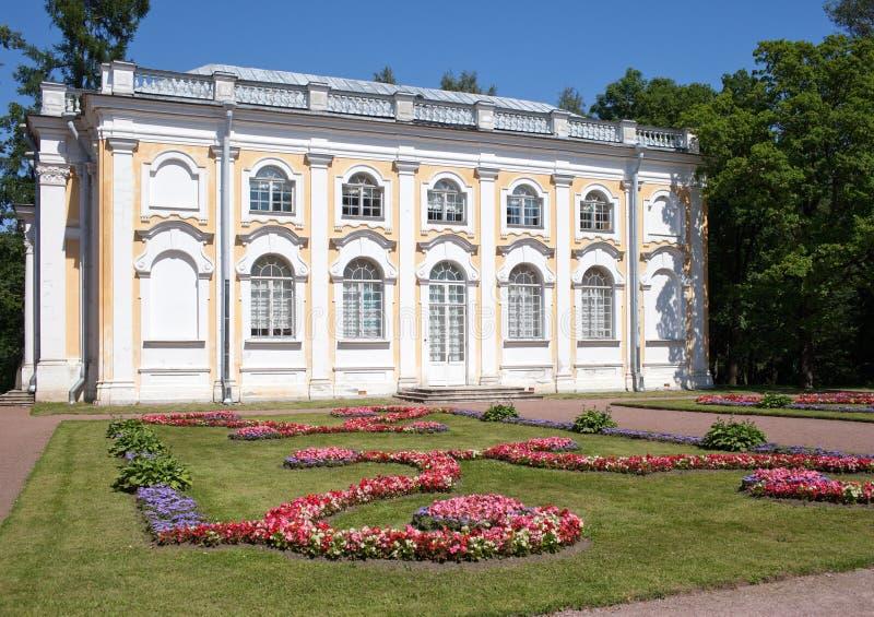 Pavilion Stone hall in Oranienbaum, Russia. Pavilion Stone hall in Oranienbaum, Petersburg, Russia royalty free stock images