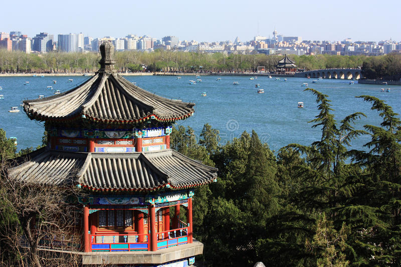 Pavilion in Summer Palace, beijing stock photos
