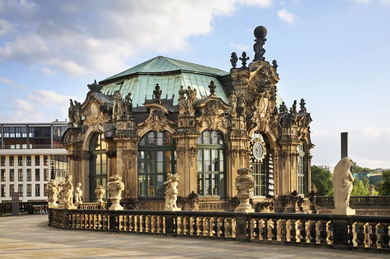 Pavilion in Zwinger Palace in Dresden. Germany.  royalty free stock image