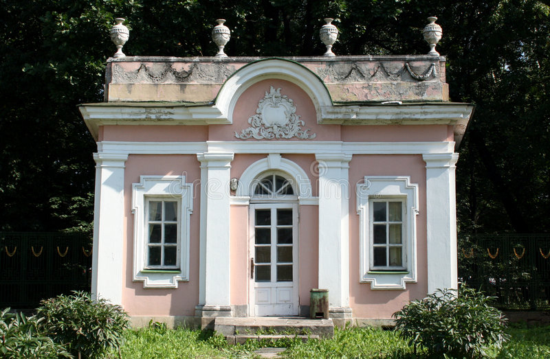 PAVILIONPavilion the in manor Sheremetevyh royalty free stock photo